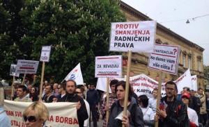 Protests in Sisak, Croatia. 1st of May, 2015