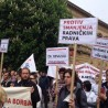Protests in Sisak, Croatia. 1st of May, 2015
