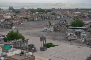 The Kurd city of Diyarbakir (Sur) after the attack of Turkish forces.