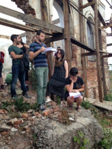 2015 Helixers at the site of a painted wooden synagogue discussed by Lissitzky.