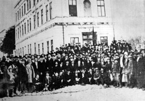 Delegates of the First Congress of the Socialist Workers Party of Yugoslavia, Belgrade, 1919.
