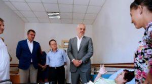 Rama and Beqaj visit a hospital in Tirana. Exit magazine.