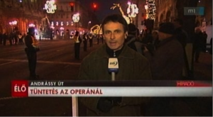 The broadcast of the public television about the 2012 demonstration in front of the State Opera. Source: hir24.